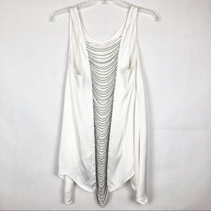 NWOT Caribbean Queen | Sleeveless White Swingy Top